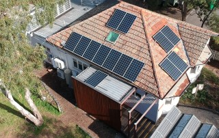 EcoHouse and solar arrays